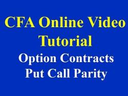 Binary Option Tutorials - PutandCall Video Course CFA Online Video Tutorial: Option C
