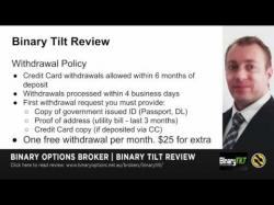 Binary Option Tutorials - BinaryTilt Review Binary Tilt Review - Deposit, Withd