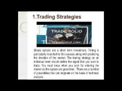 Binary Option Tutorials - TradeSolid Strategy 2 Key Tools for Successful Binary O