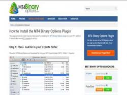 Binary Option Tutorials - binary options business Mt4 Binary Options Plugin